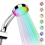 LED Shower Head 7 Colors Automatically Changes Water Saving Battery-free Hydropower Handheld Shower Head