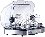 GFKD Kitchen Compact Portable Countertop Dishwasher 800W,with Shelves And Silverware Basket, Turbo Design