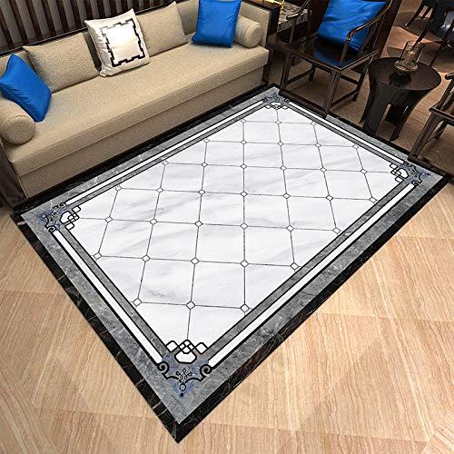 AUXING Wohnkultur Einfache Gitterteppich Wohnzimmer Rechteckigen Raum Wohnzimmer Teppich Moderne Teppich Sofa Couchtisch Decke200 * 300 cm