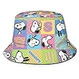 Sombrero de Pescador Sn-oopy Verano Protección UV Sombreros de Cubo de Viaje Gorra de Sol Plegable de Playa para Hombres Mujeres-67F