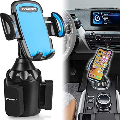 [Upgraded] TOPGO Universal Adjustable Cup Holder Cradle Car Mount for Cell Phone iPhone Xs/XS...