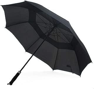SHANGRUIYUAN-Umberllas 男性と女性のためのゴルフ傘大型特大キャノピーベント傘防風耐久性防水 (Color : ブラック, Size : フリー)