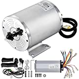 BestEquip Electric DC Motor, 2KW 48V Brushless Motor Kit 4300rpm High Speed Electric Scooter Motor for Bicycle Motorcycle with Mounting Bracket, Speed Controller, Throttle, Keylock…