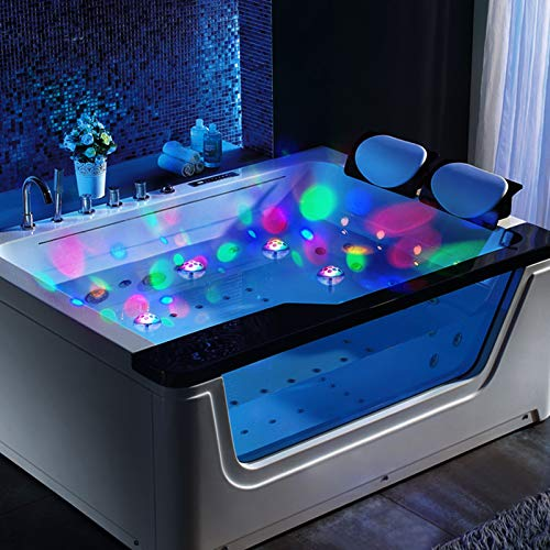 Jomilly Pool Floating Lights Bathtub Light for Kids Toddlers Floating Lights for Pool Baby Light Spa Bath Tub Light for Kids Swimming Pool Lights Baby's Night Light 2 Pack