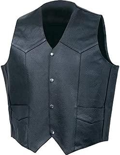 BNFUSA GFVSLBXL Rocky Mountain Hides Fully Lined Buffalo Leather Vest - XL Black
