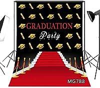 パーティーの写真のための新しい5x7ft卒業の背景2020クラスの卒業式の装飾の写真の写真のブースのスタジオの小道具のレッドカーペットの写真の背景