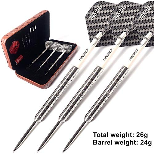 Nuevos 3pcs / Set 14.5cm 24g Acero Profesional Tip Dardos Super Slim 98% de tungsteno Punta de Acero...