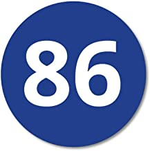 Huisnummerbordje Blauw rond   8 cm