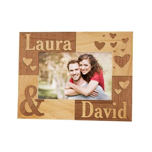 Amazoncom Just The Two Of Us Personalized Wood Picture Frame For