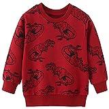 EULLA - Sudadera de algodón para bebé, diseño de dinosaurios, 1-7 años, 1 dinosaurio, Clásico