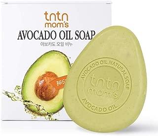 tntnmom's Avocado oil soap bar for pregnant woman, Vitamin A, B, B1, B2, E, D, Natural soap bars ,5% avocado oil and bamboo salt, Korean herbs, Korean moisturizer maternity skin care, 3.52oz(1 count)