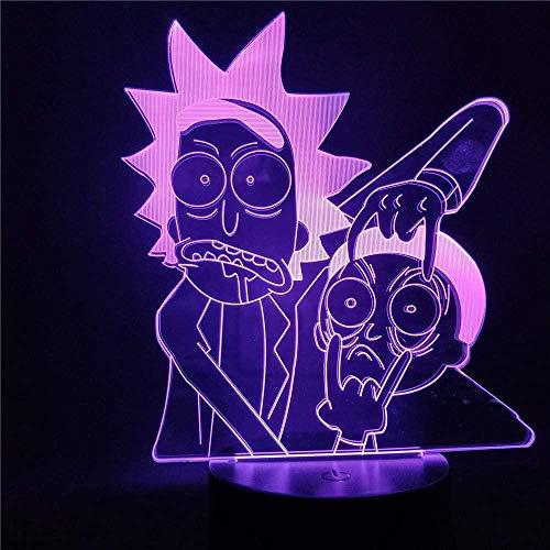 3D Illusion Nachtlicht Cartoon Kinder LED Lampe mit Farbwechsel LED Tisch für Schlafzimmer Weihnachtsgeschenk