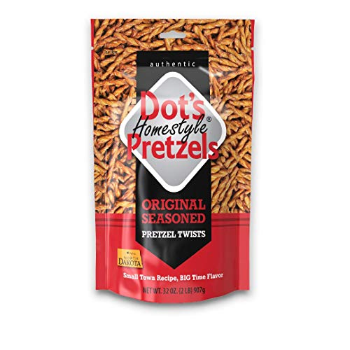 Dot's Homestyle Pretzels 2 lb. Bag (1 Bag) 32 oz. Seasoned Pretzel Snack Sticks (Packaging May Vary)