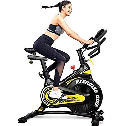 YLJYJ Bicicleta estática de Ciclismo para Interiores Bicicleta de Spinning Cardiovascular con Manillar Ajustable y Resistencia al Volante Pantalla LCD Multifuncional Ho (Bicicleta estática)