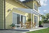 Chalet et jardin - 12PERGOLA - Toit Couv' Terrasse - Aurore Aluminium - 3 X 3.05 M - Blanc