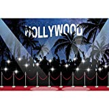 Fondo fotográfico de telón de Fondo de cumpleaños de bebé de Cortina de Alfombra roja de Hollywood para Estudio fotográfico A9 5x3ft / 1,5x1m