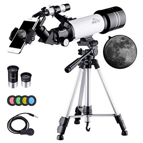 BEBANG Telescopio Astronómico, HD Telescopio de refracción de 70 mm