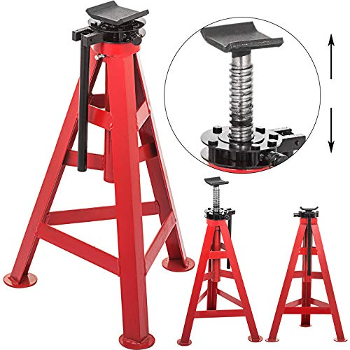 Mophorn 10 Ton Lifted Truck Tall Jack Stands Stroke 11.8inch High Height Jack Stand Minimum Height 720mm 28.3inch for Lifted Trucks