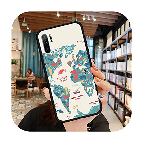 Viaje lindo patrón teléfono caso para Huawei honor Mate P 9 10 20 30 40 Pro 10i 7 8 a x Lite nova 5t suave silicona Shell cubierta Funda-a3-honor 10i