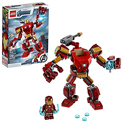 LEGO Marvel Avengers Iron Man Mech 76140 Kids' Superhero Mech Figure, Building Toy with Iron Man Mech and Minifigure, New 2020 (148 Pieces)