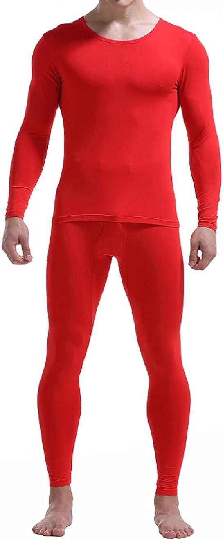 Men's modal thin super soft thermal underwear set round neck basic base underwear