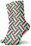 artyly Bandera de Hungría Tejido Medias de moda casuales Calcetines de tobillo de equipo 30 cm Para botas deportivas Senderismo Correr