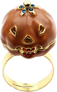 Amosfun Halloween Rings Adjustable Pumpkin Rings Finger Party Accessory Ring Party Favors Toys for Men Women Girls