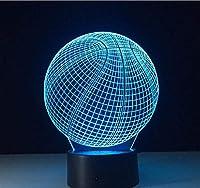 家の装飾の視覚化のための20色のテーブルランプが付いている3DLEDナイトライトバスケットボール目の錯覚の雰囲気ランプ