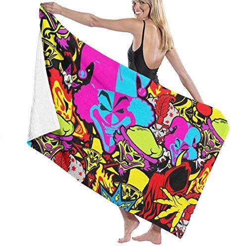 maichengxuan Unisex Beach Towel, Colorful Clown Crop Bath Towels Beach Towel Bath Towel Absorbent Soft Swim Towel 130 x 80 cm