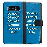 DeinDesign Cover kompatibel mit Samsung Galaxy Note 8 Duos Tasche Leder Flip Hülle Hülle Phrases Sprüche Sayings