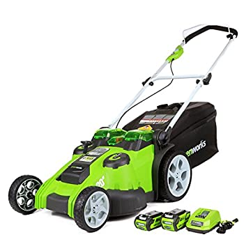 Greenworks 40V 20-Inch Cordless  2-In-1  Push Lawn Mower 4.0Ah + 2.0Ah Battery and Charger Included 25302