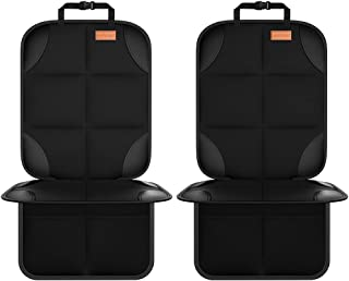 Smart elf Car Seat Protector, 2Pack Seat Protector Protects Child Seats with Thickest Padding and Non-Slip Backing Mesh Po...