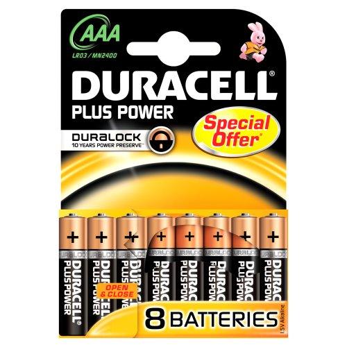 Duracell DURALOCK MN2400 AAA/Micro/LR03 Batterien (8-er Pack)