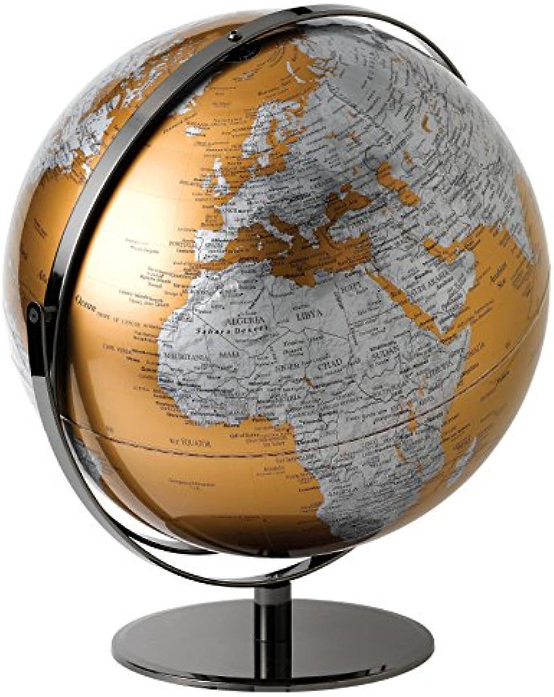 Globe Collection Globes, plastik, Gold, 43 cm