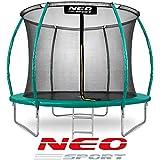 Neo Sport Gartentrampolin Trampolin 244 cm für Kinder Komplettset mit Innen-Sicherheitsnetz Leiter Federabdeckung Sprungmatte