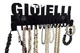 Organizzatore di gioielli in plastica acrilica. Realizzato in materiale superiore qualità. I ganci gioielli sono 8mm di spessore che garantisce un immagazzinamento sicuro e forte. gancio gioielli da società di design Galeara. Espositore gioielli nero...