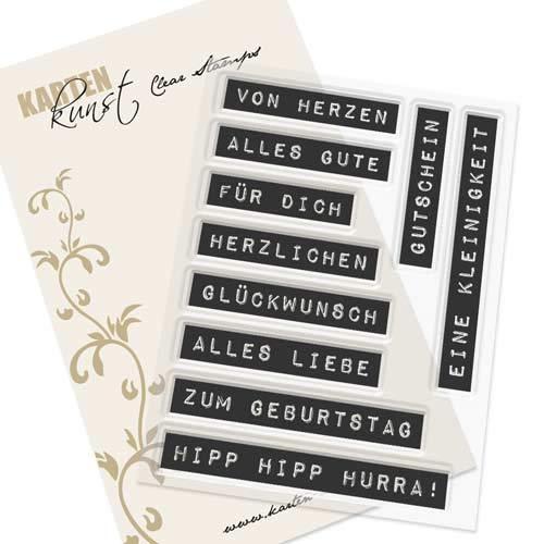 Karten-Kunst-Stempel Clear Stamp Stempelgummi - Labelwriter zum Geburtstag