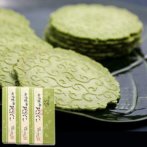 伊藤久右衛門 宇治抹茶せんべい うす葉みどり 煎餅 24枚 化粧箱 3箱セット