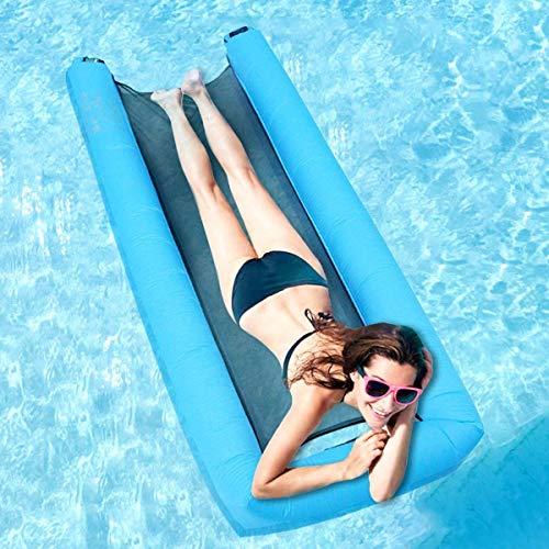 Anna 浮き輪 フロート 大人用 子供用 浮き輪ベッド 水上ハンモック 浮き輪ベッド ビーチボード 強い浮力 アクアラウンジ 夏対策 海遊び 水遊び プール 海水浴 ウォーターベッド 水辺でゆったり 背もたれ付浮き輪 防水携帯電話ポーチ付き 200KGの