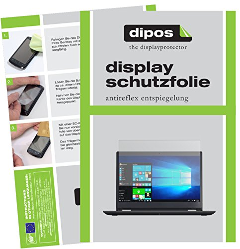 dipos I 2X Schutzfolie matt kompatibel mit Lenovo ThinkPad Yoga 370 Folie Bildschirmschutzfolie