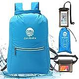 Etechydra Dry Bag Mochila impermeable de 10 litros, ultraligera, impermeable, para exteriores, para barcos, playa, kayak, camping, piragüismo, natación, pesca, senderismo, color azul