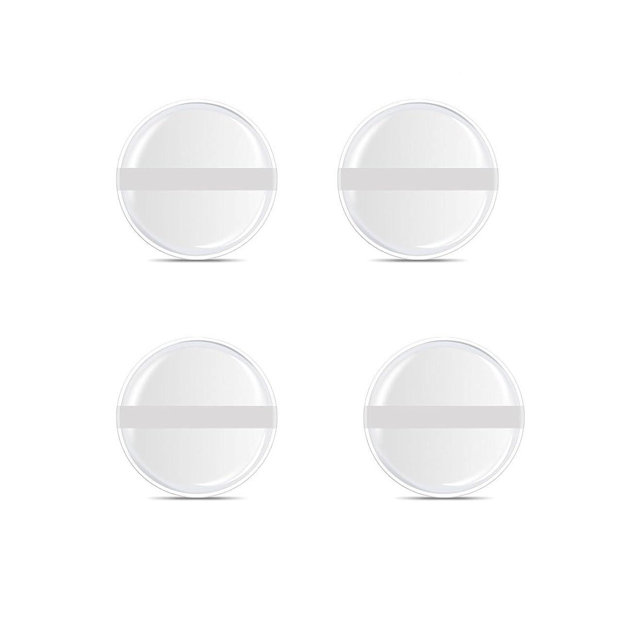 無数のくしゃくしゃ出来事シリコンパフ 帯付き メイクスポンジ ゲルパフ ゼリーパフ 清潔しやすい衛生 柔らかく 透明な 4枚入 (円形 4入り)