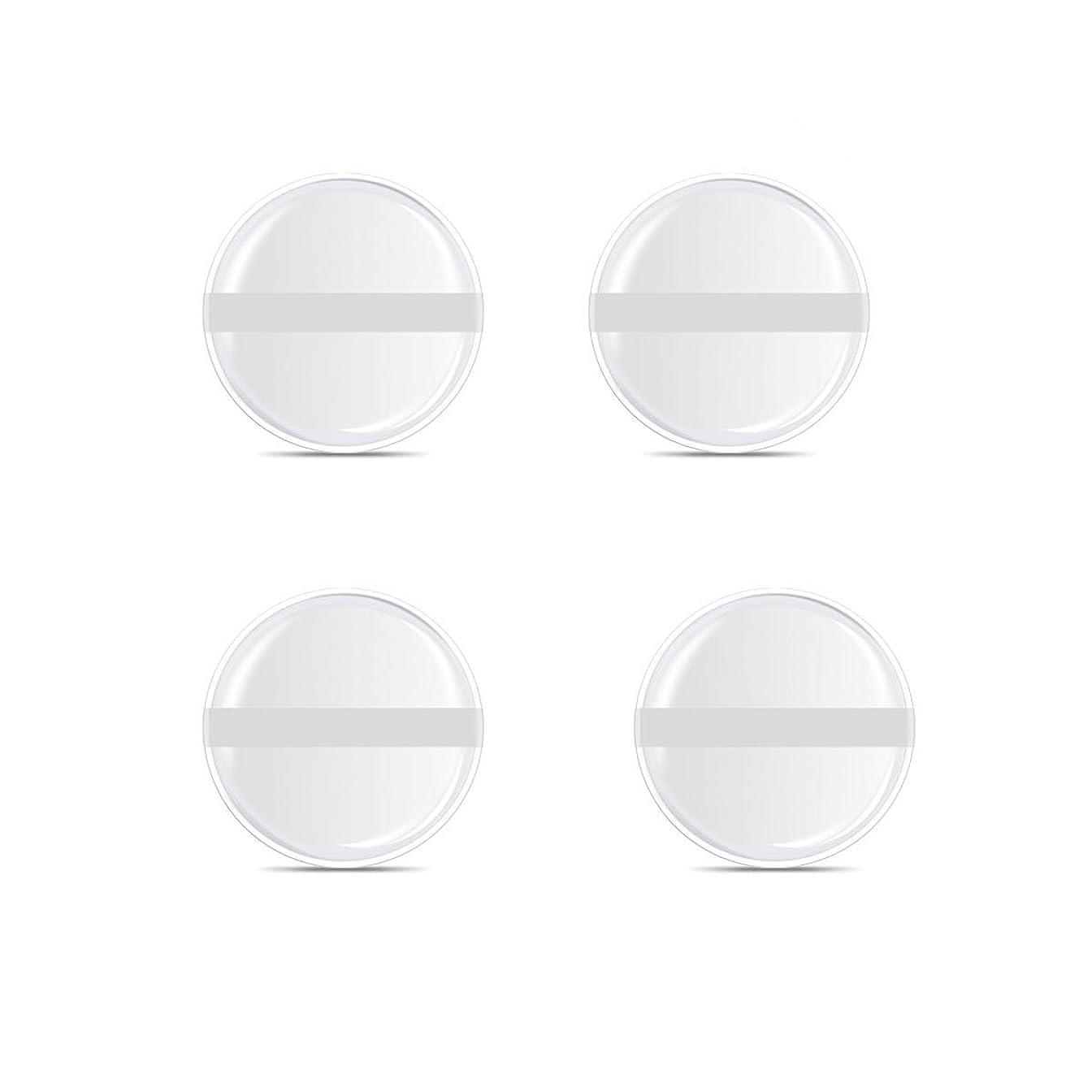 大邸宅成長するレジデンスシリコンパフ 帯付き メイクスポンジ ゲルパフ ゼリーパフ 清潔しやすい衛生 柔らかく 透明な 4枚入 (円形 4入り)