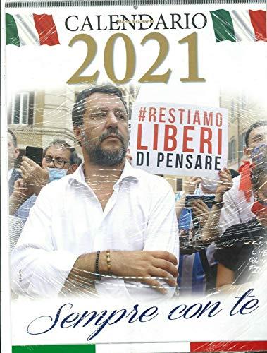 Calendario Da Parete Verticale Anno 2021 Matteo Salvini Sempre Con Te