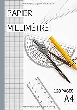 Papier millimétré - Pour réaliser des dessins très précis - Cahier millimetre avec 120 pages de feuilles millimétrées - FO...