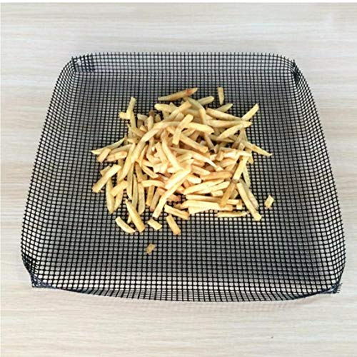 Non-Stick Schwarz Ofen Crisper Tray Air Fryer Grill Basket Crisp Up Pizza Chips Fries
