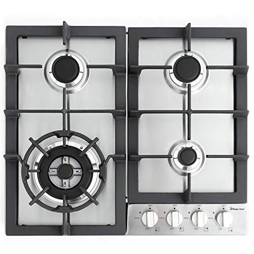 Magic Chef 24'' Built Stainless Steel MCSCTG24S 24' Gas Cooktop with 4 Burners