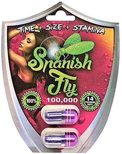 Spanish Fly 100,000 (6 Pills) - Men's Enhancement Pills (Time+Size+Stamina) Made in U.S.A.