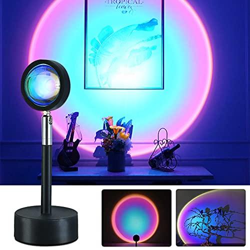 luz nocturna LED, para casa, cafetería, fondo, decoración de pared, lámpara colorida para tomar fotos en vivo (Rainbow)