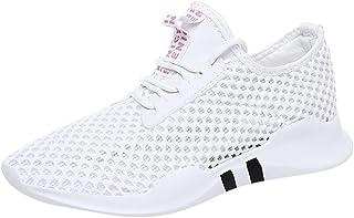 Mujeres Zapatillas De Deporte Zapatos Respirado Ligero Malla Antideslizante Gimnasio Zapatos Sneaker Deporte Running Sacudir Casual Primavera/Verano Talla 35-40